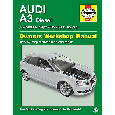Audi A3 DIESEL Apr 2008 - Sept 2012 Haynes Manual 5912 NEW