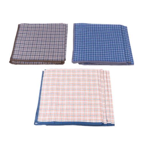12pcs 100/% Cotton Plaid Men Handkerchief Pocket Square Suits Grid Hanky Bulk