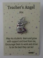 Bb Teacher's Teacher Support Love Guide Students Everybody's Angel Tack Pin
