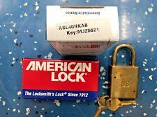 Nib American Lock Brass Padlock Keyed Alike Military Use Asl40nkab