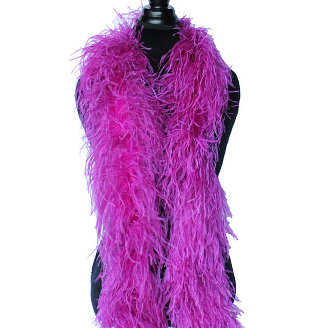 Red 2ply Ostrich Feather Boa Scarf Prom Halloween Costumes Dance Decor