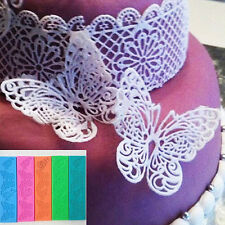 Cool Butterfly Silicone Mat Fondant Mold Sugarcraft Cake Decorating Baking Mould