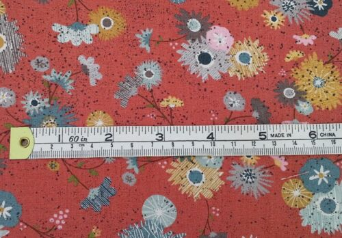 Basic Grey Mon Ami Retro Fabric,red fat 1//4 flowers 100/%cotton Moda 30411-14