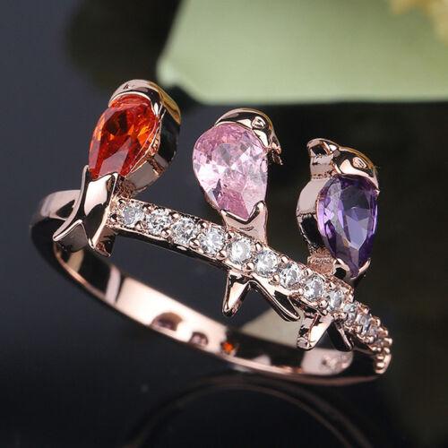 Bird Design Bague Pour Femme Fête De Mariage Accessoires de Mode Bijoux Cadeau LD