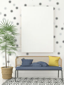 Details About Star Wall Decals Retro Decor Mid Century Modern Nursery