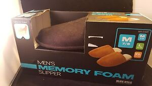 Men-039-s-Memory-Foam-Slippers-NIB