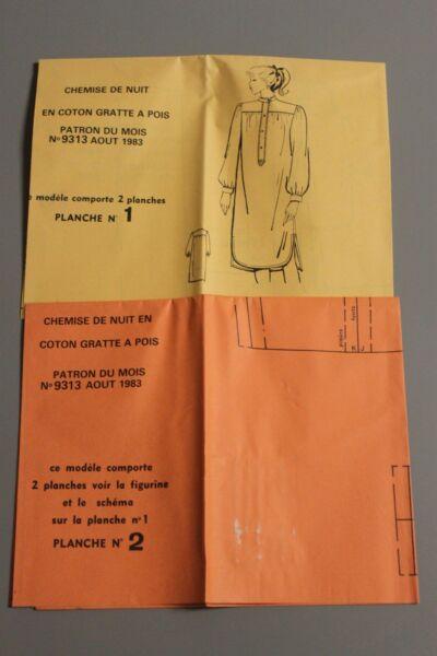 ' MODES & TRAVAUX ' PATRON AOUT 1983 + PATRON POUPEE MARIE FRANCOISE JEAN MI A10