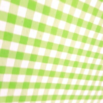 Classic Bottle Green Gingham Print Polycotton Fabric School Colour Material