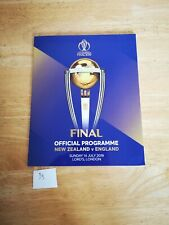 Cricket Lords ICC World Cup Final Programme 2019 England v New Zealand (5/5)
