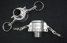 Stainless Steel Cam Lock Adapter 34 Female 34 Npt Male Nipple Cl14 075