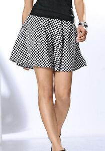 Patrizia-Dini-by-Heine-Rock-44-Schwarz-Weiss-Kurz-Style-Skirt-Black-White-Top-NEU