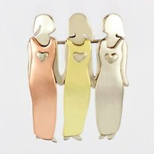 Three Sisters Pin 3 Best Friends Brooch Far Fetched Mima & Oly