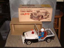 NOMURA TURN-O-MATIC GUN JEEP, BATTERY OPERATED 100% FULLY FUNCTIONAL WITH BOX!!
