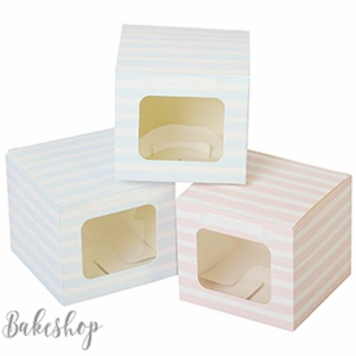 WEDDING gift Single CUPCAKE FAIRY CAKE MUFFIN DISPLAY BOXES clear WINDOW PARTY