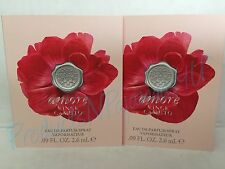 Lot of 2**Vince Camuto AMORE Eau de Parfum .09fl.oz/2.6ml SAMPLE New & CARDED
