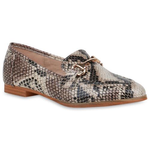 Damen Klassische Slippers Leder-Optik Freizeit Business 833605 Schuhe