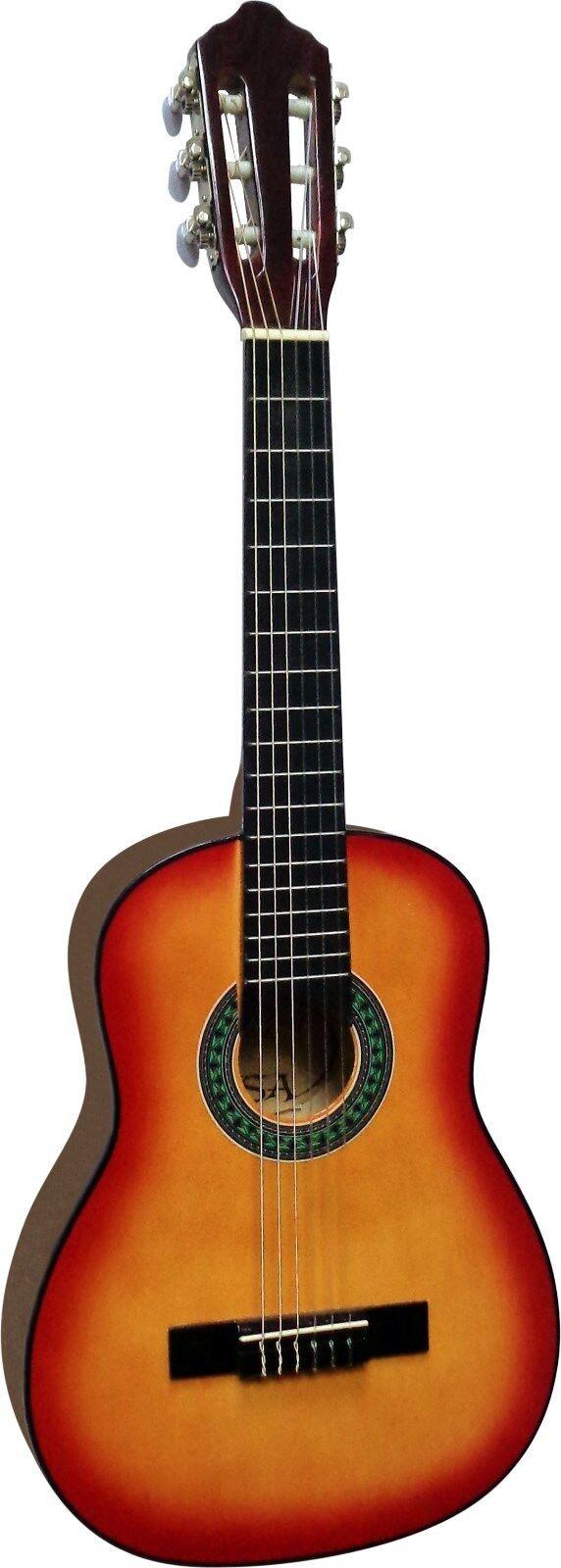 Saiten 3xPlektren!n Gitarre//Kindergitarre 1//4-Jugend-Set-mit Tasche Band//Gurt