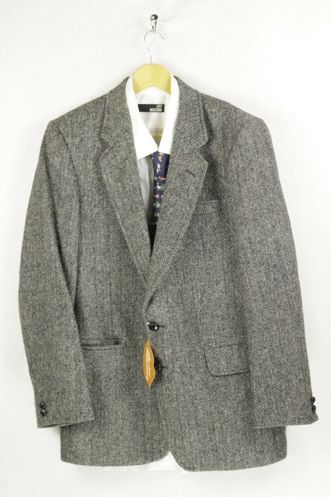 VINTAGE Mens HARRIS TWEED Country Jacket Blazer HAND WOVEN 42 EXCELLENT DN2RL