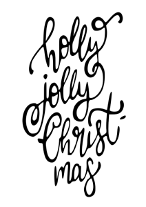 Holly Jolly Vinyl Decal Sticker for Wine Bottle Craft Glass