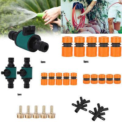 5Pcs Garden Hose Quick Connect Plastic Hose Tap Adapter Connector Set Kit N W8P6
