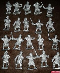 Hommes Bretonniens Aux Armes, Guerre Des Roses Médiévale, 20 Modèles En Métal, Warhammer