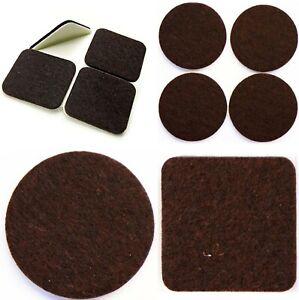 BROWN-Square-amp-Round-FELT-PADS-Furniture-Legs-VHB-Self-Adhesive-STICKY-PADS