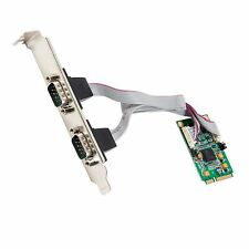 2 Port Serial Mini PCI-e Controller Card (RS-232, DB9, RS-422, RS-485), Express