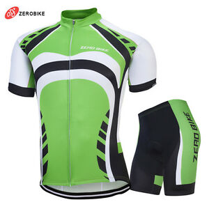 Mens Cycling Jersey Bib Short Kit Bike Gel Pad MTB Team Shirt Camiseta Ciclismo