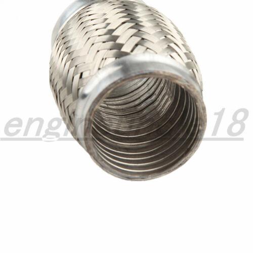 "Exhaust Flex Pipe 3/"" Inch ID X 4/"" L Stainless Steel Coupling Interlock 76mm"