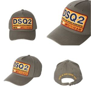 9466d2a35 Details about ORIGINAL DSQUARED2 Military (Khaki) DSQ2 Logo Patch Baseball  Cap from FW2017 $80