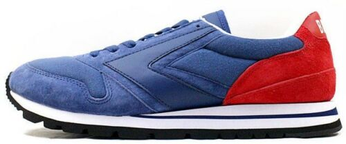 Mens Brooks Chariot Retro Vintage Casual Trainers Shoes Size UK Blue Red 110178