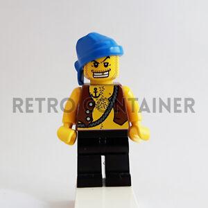 1x pi023 Pirate Captain Pirati Omino Minifig Set1788 LEGO Minifigures