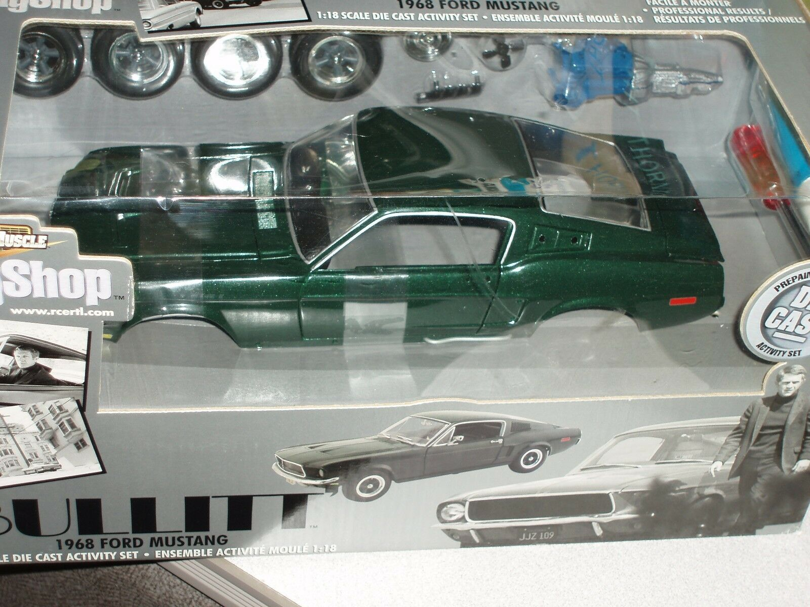 ERTL Ford Mustang 1968 Modèle GT390 Kit 1 18  BULLITT  Body shop Series