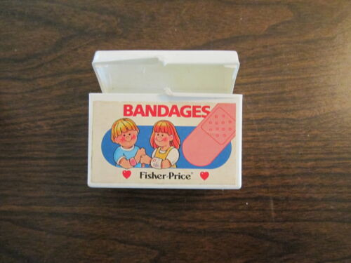 Fisher Price Doctor Dr. Nurse Hospital Medical Kit Band aid box bandages sick