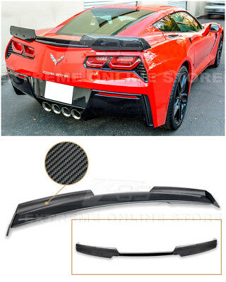 Z06 Stage 2 Painted Rear Spoiler W Carbon Fiber Side Winglets 14 19 Corvette C7 Ebay