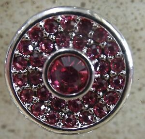 Pink-Circle-Rhinestones-Noosa-Style-Snap-Buttons