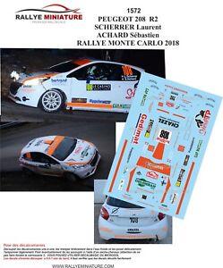 Bien Decals 1/43 Ref 1572 Peugeot 208 R2 Scherrer Rallye Monte Carlo 2018 Rally Wrc