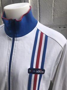 Adidas-Chaqueta-Talla-L-Blanco-De-Hombre-Top-de-pista