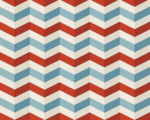 Image Is Loading Lars Contzen Folded Look ZigZag Wallpaper Sky Red
