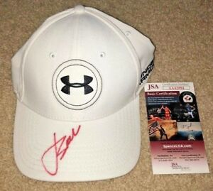 6b6cd0a1 JORDAN SPIETH SIGNED UNDER ARMOUR HAT US OPEN GOLF PGA MASTERS 2019 ...