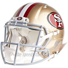 7922428e1aa SAN FRANCISCO 49ERS RIDDELL NFL FULL SIZE AUTHENTIC SPEED FOOTBALL HELMET