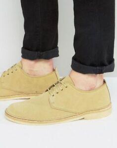 Mens Clarks Originals Desert London shoes in COLA suede fit G