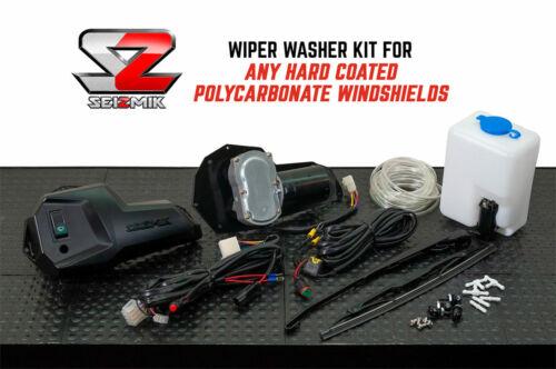 Seizmik 2-Speed Windshield Wiper Washer Kit-UTV Polaris Can-Am Yamaha UNIVERSAL
