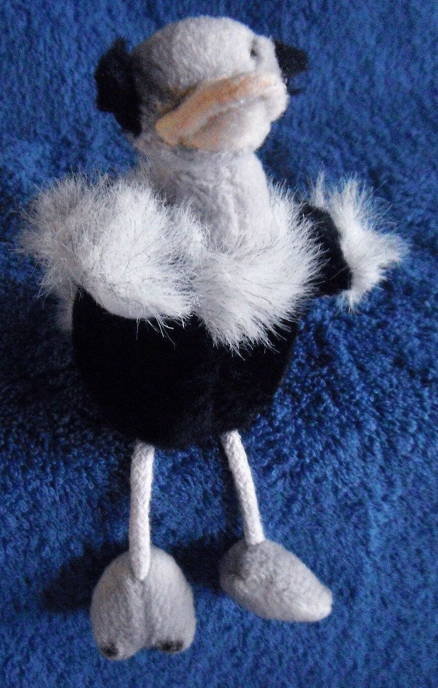 1806   Ostrich finger plush puppet - Born in Africa - plush finger - 10cm d143c9