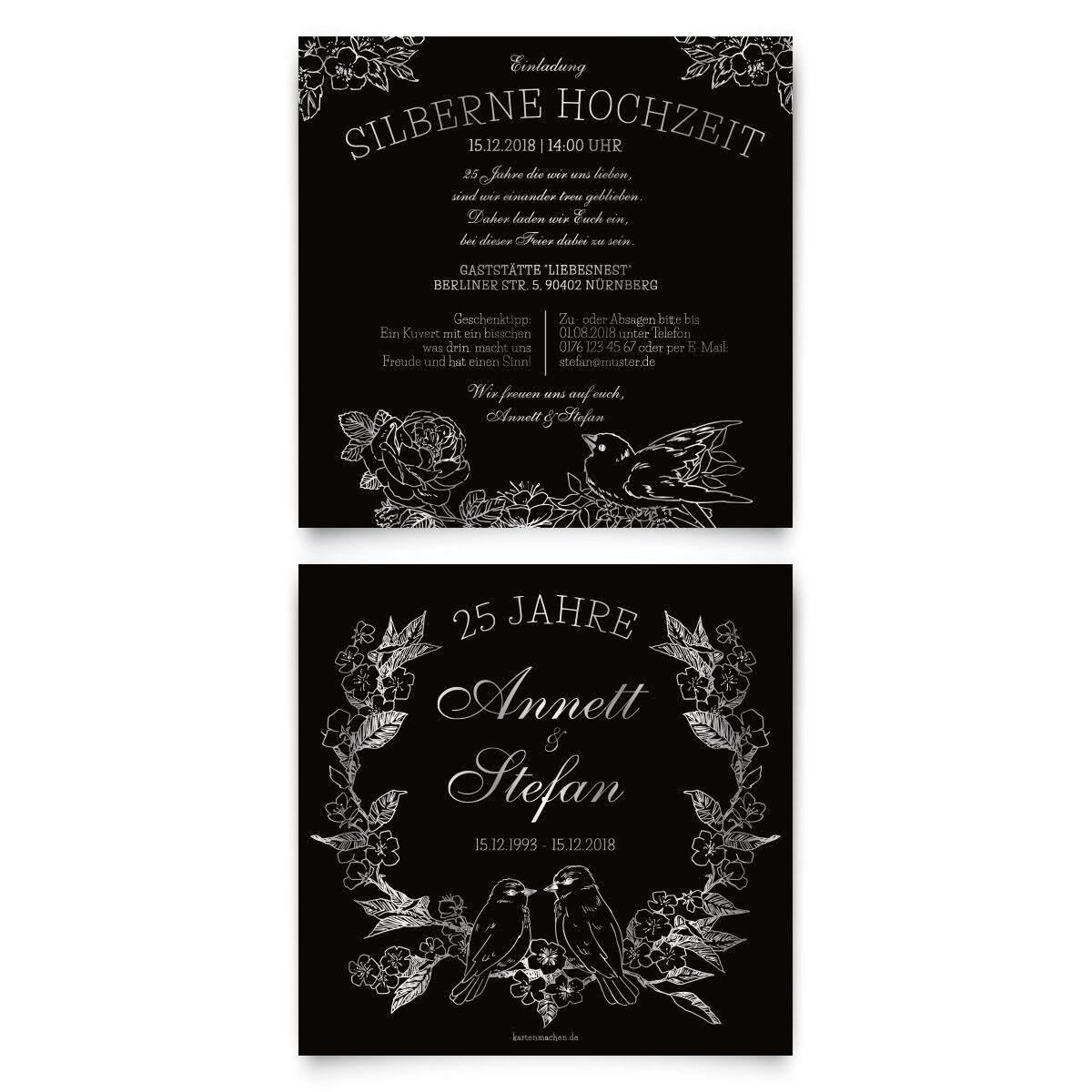 Hochzeitseinladungen Silberhochzeit silberne Hochzeit Einladung Kratzbild Motiv   Kunde zuerst    Smart