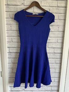 Oasis-Ladies-Size-XS-Purply-Blue-Short-Dress