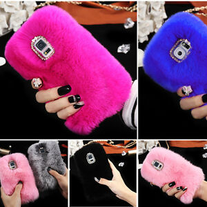 best service aae55 bde32 Details about Phone Mobile Back Case Cover Ultra Luxury Warm Soft Comfy REX  Fluffy Fur Skin