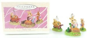 HALLMARK-Keepsake-1997-BUMPER-CROP-Bunny-Rabbit-EASTER-or-CHRISTMAS-ORNAMENT-VTG
