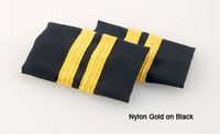 Pilot Epaulets (two Stripes) Black And Navy Free Shipping