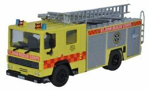 BNIB-OO-GAUGE-OXFORD-1-76-76DN006-ST-JOHN-RESCUE-CORPS-DENNIS-RS-FIRE-ENGINE